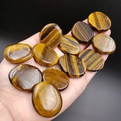 Tiger Eye Pocket Palm Stone