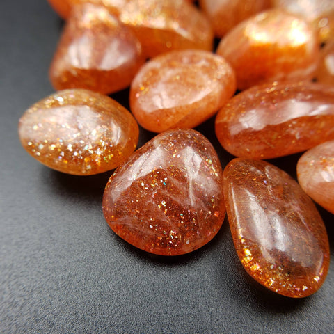 Rainbow Gem Sunstone - Set of 2 Tumble Stones