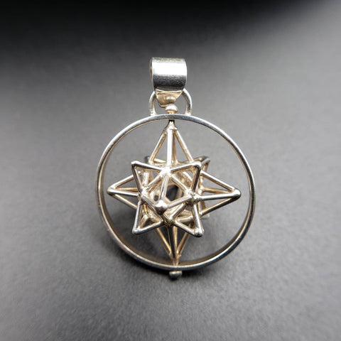 Spinning Heart Star Sacred Geometry Pendant