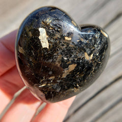 Rare Nuummite Flashy Protection Heart