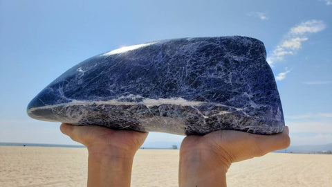 Blue Whale Sodalite Large Polished Sculpture
