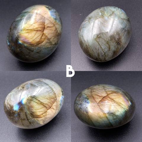 Flashy Labradorite Pocket Palm Stone