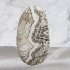 Crazy Lace Agate Palm Stone