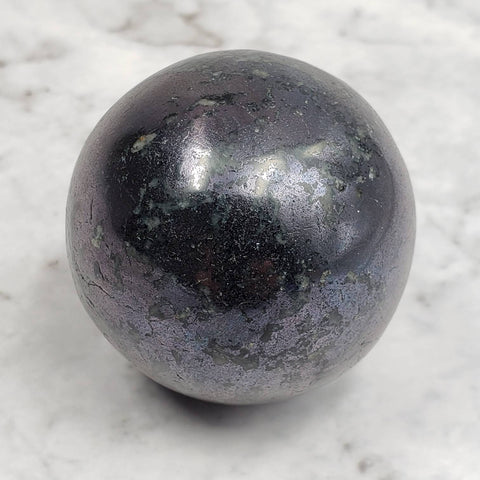 Covellite Metallic Blue Crystal Sphere