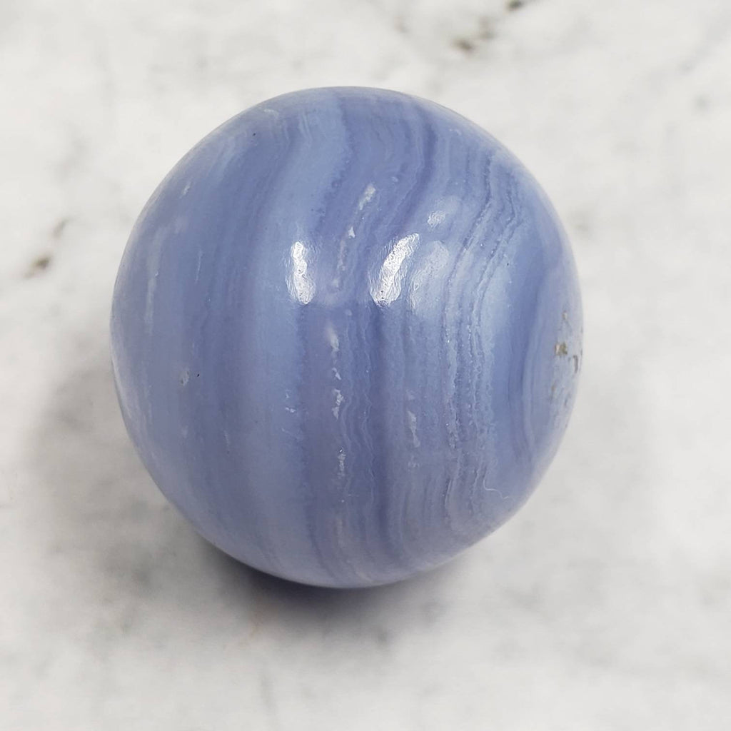 Blue Lace Agate Crystal Ball Sphere 30mm