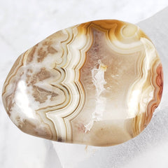 "Crazy ""Face"" Lace Agate Palm Stone"