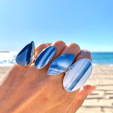 Blue Opal Adjustable Surfboard Ring