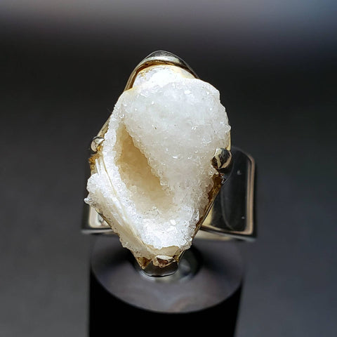 Mermaid Crystal Seashell Ring Size 7.5