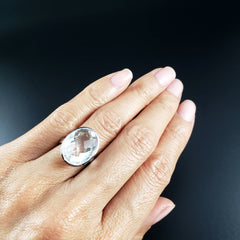 Quartz Crystal Power Ring - Size 5