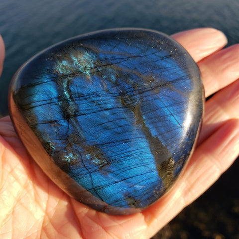 Blue Labradorite Large Palm Stone