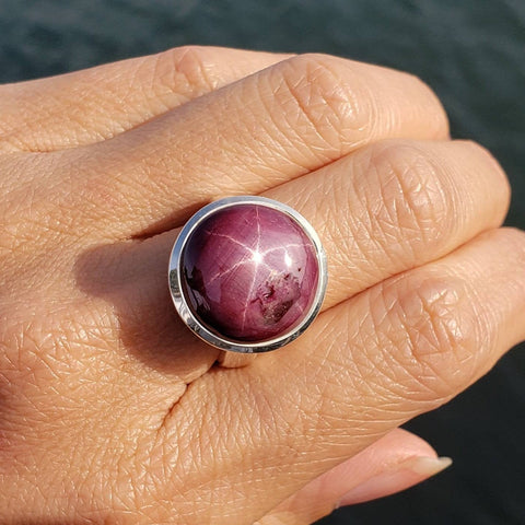 Star Ruby Power Ring Size 8