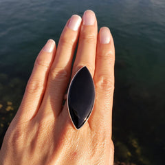 Black Onyx Adjustable Surfboard Ring