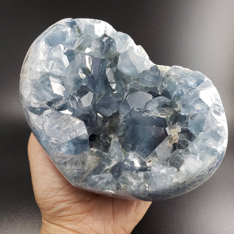 Celestite Heart Geode Cluster Home Decor Crystal