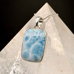 Luminous Larimar Sterling Silver Pendant