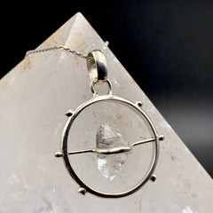 Herkimer Diamond Quartz Spinner Pendant