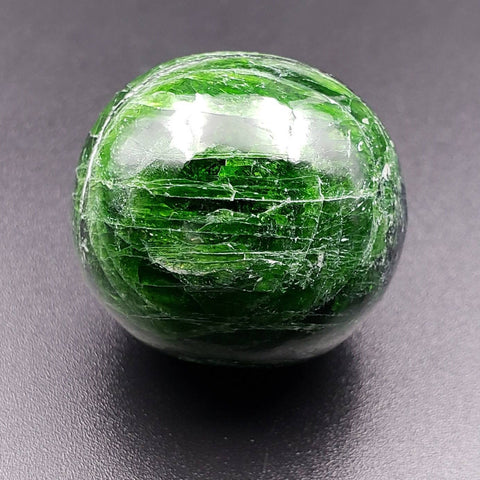 Chrome Diopside Crystal Sphere
