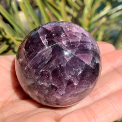 Gem Lepidolite Flashy Crystal Ball Sphere