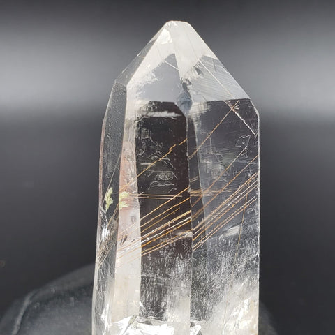 Golden Rutilated Quartz Isis Diamond Window Point