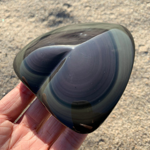 Rainbow Obsidian Heart for Love Protection
