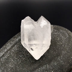 Rocket Ship Heart Quartz Triple Terminated Point