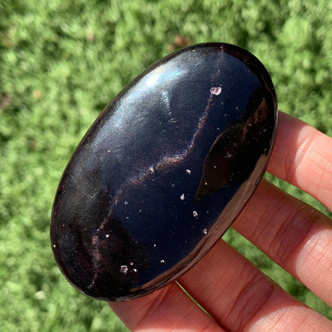 Cat Eye Garnet Palm Stone