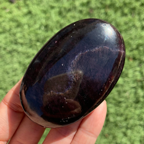 Rare Double Star Garnet Palm Stone
