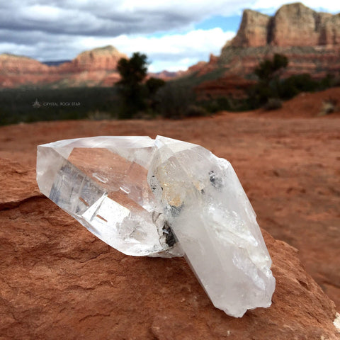Large Twin Dolphin Quartz Point