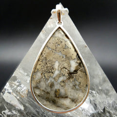 Pyrite and Quartz Pendant