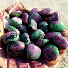 Ruby Zoisite ( Anyolite ) Tumbled