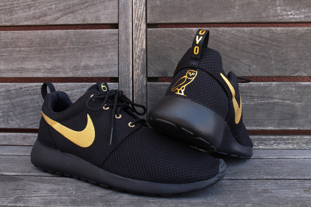 low priced a1da1 dbfd5 Triple Black OVO inspired Roshe Custom (Base Shoe Included) ONLY 22 Pa –  OfficialSneakerstop