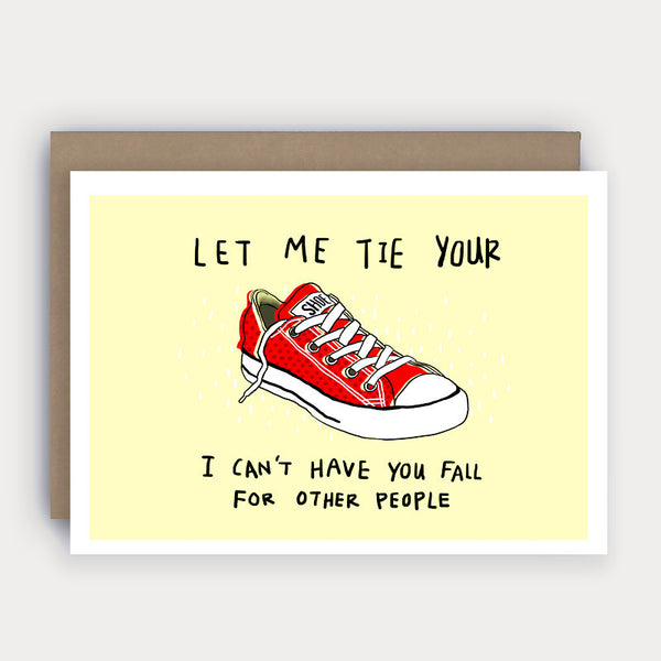 Tie Your Shoe- Card