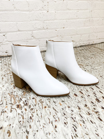 White Here Bootie