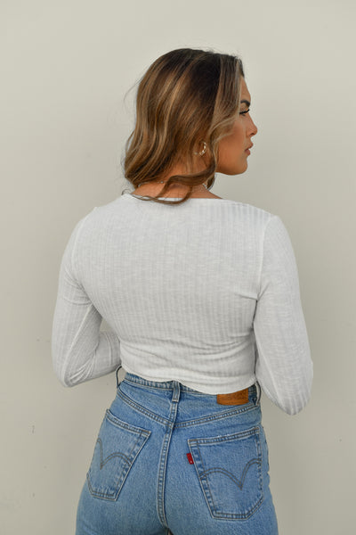 Snap To It Ribbed Top