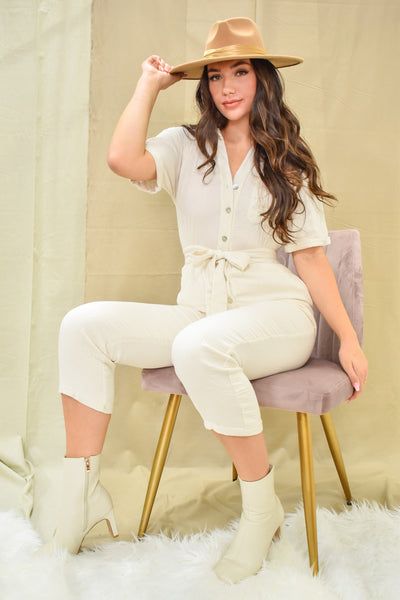 Everything Is All White Utility Jumpsuit