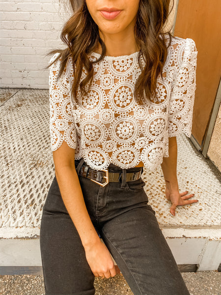 Fall in Lace Crop Top