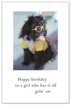 Dog in Yellow Sunglasses Card