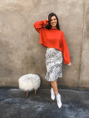 Safari Land Midi Skirt