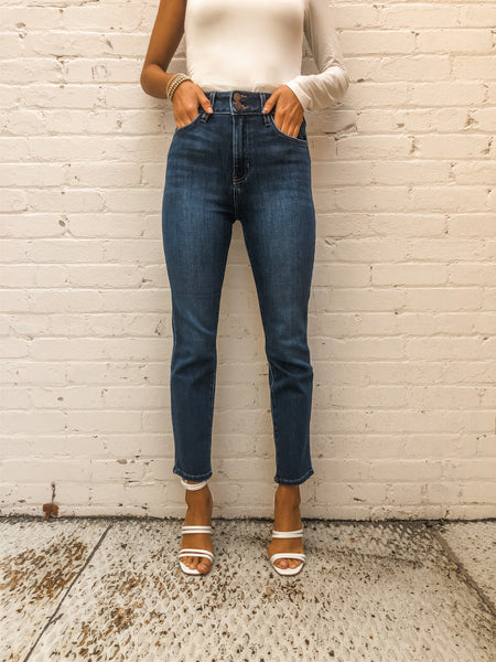 Day Trip High Waisted Dark Denim