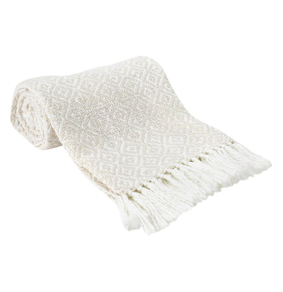 Gray / Cream Diamond Throw