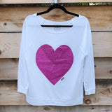 Pink Glitter Heart Long Sleeve