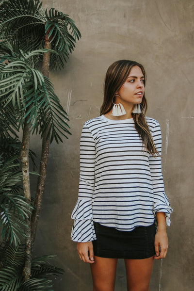 Boho Bell Stripe Top
