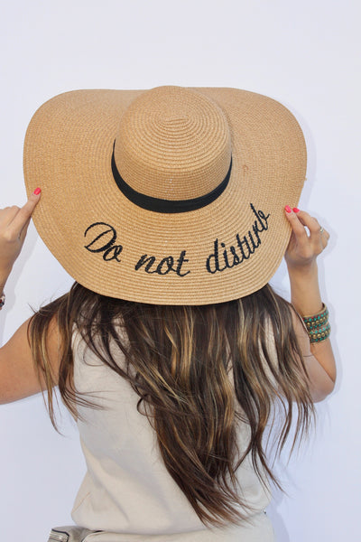 Do Not Disturb Beach Hat