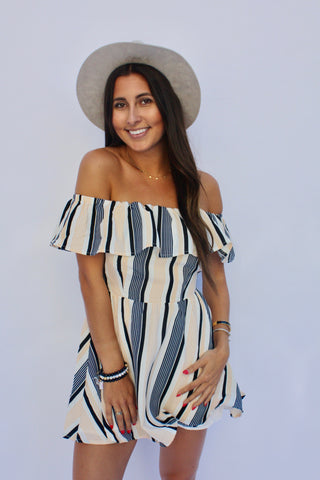 Stripe Salerno Dress