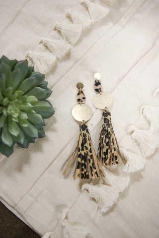 Leopard in Love Earrings