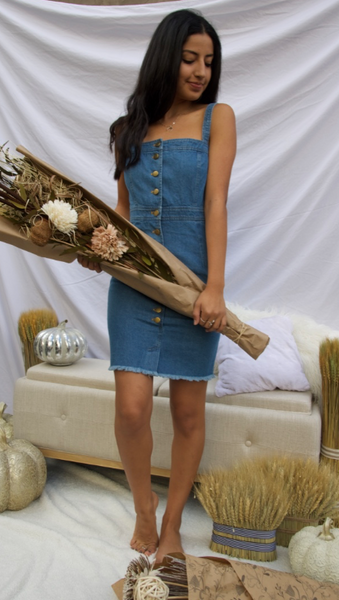 Snaps for you denim dress