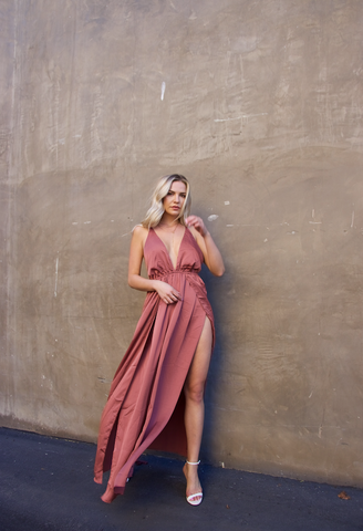 Slip Up Maxi Dress