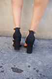 Over and Out Suede Heel