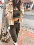 Olive Green Leopard Set
