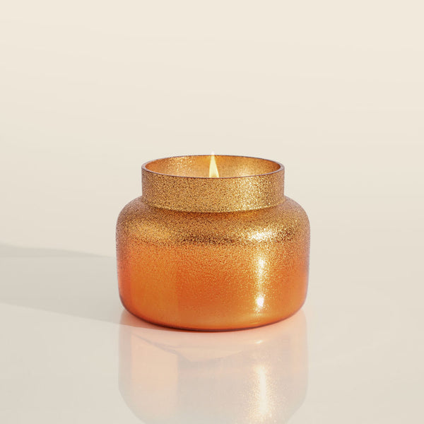 Pumpkin Dulce Copper Glittered Ombre Candle