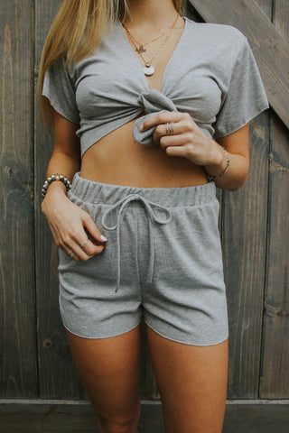 Sooner or Later Knit Shorts